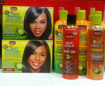 AFRICAN PRIDE OLIVE MIRACLE HAIR PRODUCT